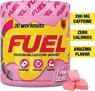 Fuel Pre Workout Powder (Pink Burst) Best Tasting, Safe Formula, Boost Energy, Better Focus for Men and Women, Keto, Caffeine, Nitric Oxide Booster, Natural, Creatine, Sugar Free, Pink Starburst