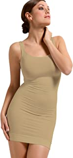 SENSI' Sottoveste Modellante Donna Comfort Spalla Larga Senza Cuciture Seamless - Made in Italy