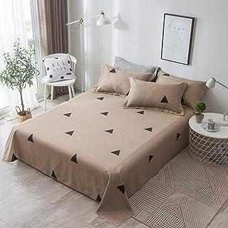 PENVEAT Literie de Couleur pour lit King Size Ensemble de draps pour draps de lit Queen Drap imprimé avec taie d'oreiller ...