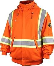 Revco/Black Stallion TruGuard 200 FR Cotton Hooded (Safety Orange) Sweatshirt, Reflectives LG