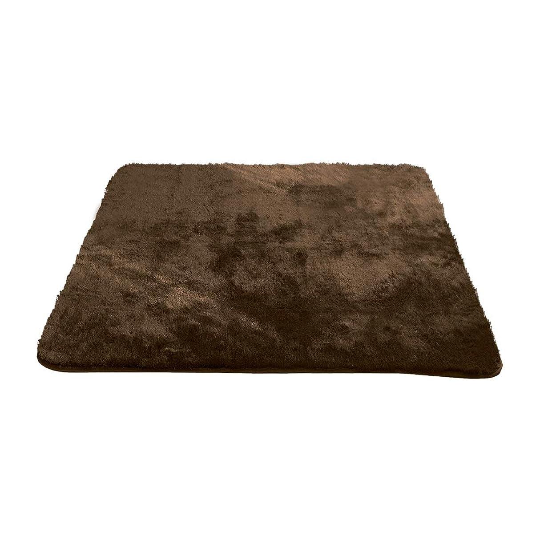 貢献するオリエンテーションできるエア?リゾーム ラグマット 2畳 洗える おしゃれ 北欧 マイクロファイバーシャギーラグ moice(モイス) 185×185cmブラウン