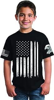 picontshirt Patriotic Shirts for Boys American Flag T-Shirt