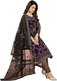 فستان نسائي هندي هندي من بوليوود للحفلات بتصميم شبكة مستقيمة من الحرير بتصميم رداء مسلم باكستاني 6091