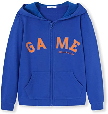 Boys Hoodie Hooded Zip Up Jackets Long Sleeve Sweatshirt Coat Jacket 514 Years
