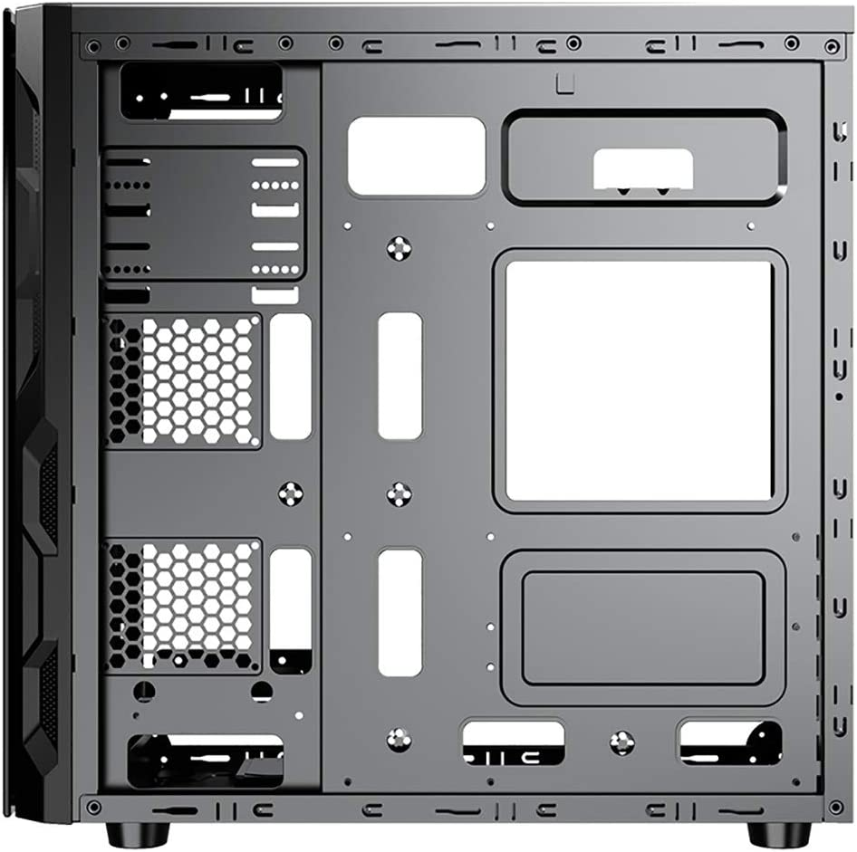 ATX//Micro-ATX//Mini-ITX Color : Black XZ15 Black Tempered Glass Game Computer case Mid-Tower Window Side Panel Support 4x120MM Fan Position