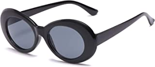 SIPU Retro Oval Sunglasses Unisex UV400 Resin Eyewear Round Lens Clout Goggles