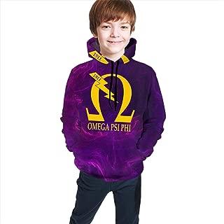 Omega Psi Phi Kids' 3D Anime Hoodies Cartoon Pullover Funny Printed Sweatshirt Boys&Girls