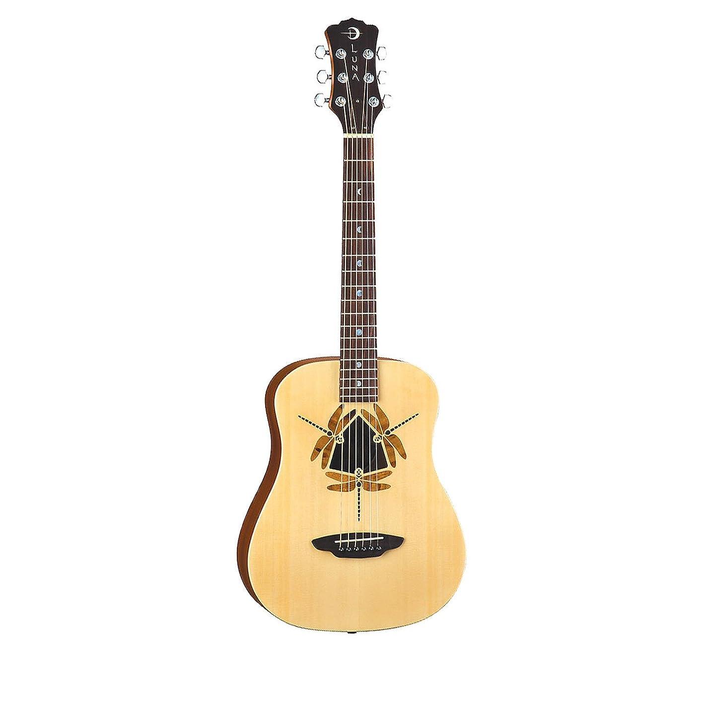 大きなスケールで見ると商標買い物に行くSafari Series Dragonfly 3/4-Size Travel Acoustic Guitar - Natural アコースティックギター Luna社【並行輸入】