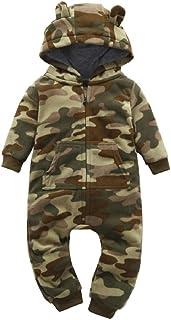 80bebed10f417 Sisit Camouflage Plus épais à Capuche Barboteuse Outfit pour Kid Bébé  Garçons Filles Vêtements