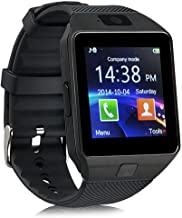 ZOMTOP DZ09 Bluetooth Smart Watch Touch Screen Smart Wrist Watch Phone Support SIM TF Card with Camera Pedometer Activity Tracker for iPhone iOS Samsung Android Smartphones (Black)