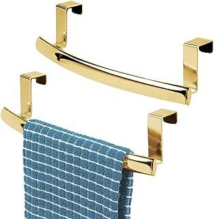 mDesign accroche-torchon pour la cuisine – porte-serviette à accrocher à la porte de l'armoire de cuisine – accroche-servi...