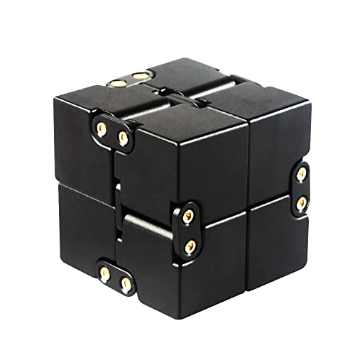Infinity Cube, Aluminium Alloy Infinity Fidget Cube Anti-Stress and Anxiety Relief, Killing Time Toys Great for Travel, Home, Office, School