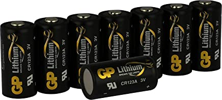 CR123a 3V Lithium Batteries (CR123) Pack of 8 Photo battery (CR 123/ CR17345) GP Batteries– Ideal for ARLO & Wireless Cameras – Smart home equipment – PIR detectors – Motion detectors etc.