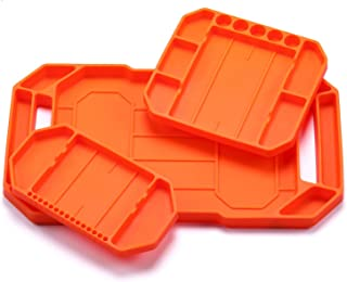 CASOMAN 3PCS Non-Slip Flexible Tool Tray, Original Tool Tray Organizer, Non-magnetic Silicone, Grips To Any Surface With Easy Clean Up for Easy Part Pickup