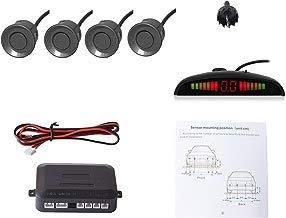 Cocar Coche Auto Vehículo Visual Reserva Radar Sistema con 4 Estacionamiento Sensores + Distancia Info Vídeo Salida + Sonido Advertencia (Gris Color)