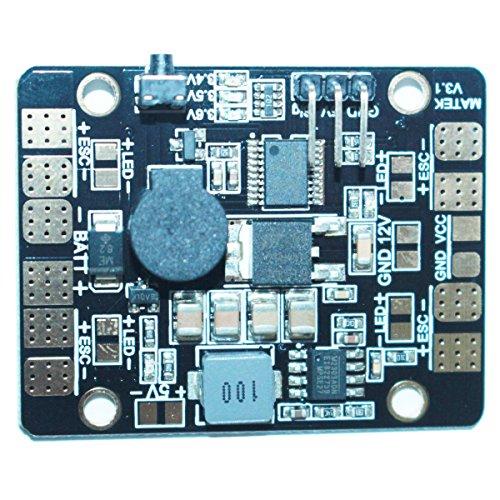 MAXSTIV 5in1 V3 PDB BEC-5V/3A LED Lighting Control Tracker Low Voltage Alarm LED & POWER