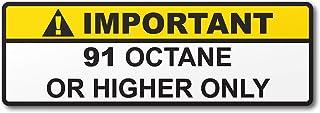 برچسب برچسب هشدار چاپی اکتان یا مخزن بنزین بنزین بالاتر (2)