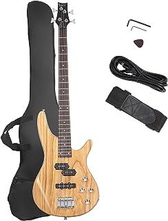 گیتار باس GLARRY باس شیک کامل 4 رشته ای شیک با خط قدرت و ابزار آچار (غروب آفتاب)