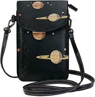 LORONA Solar System Cell Phone Purse Wallet for Women Girl Small Crossbody Purse Bags