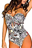 Maillot de bain 1 une pièce femme monokini Moulé taille XL -