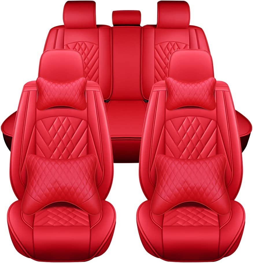 Year-end gift Red Universal Car 2021 spring and summer new Seat Covers Set Full Auto Leather
