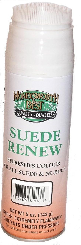入口国際刈り取るMoneysworth & BestスエードヌバックRenew Dyeスプレーブラウン5オンス