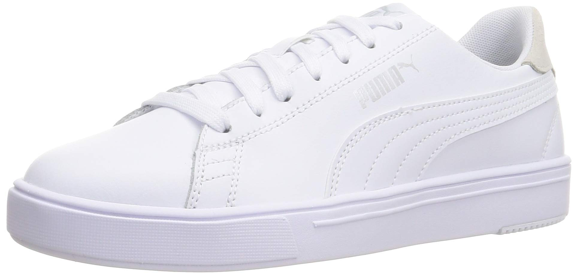 PUMA Serve Pro Lite Sneaker White-White-Silver-Gray UK 8_Adults_FR 42