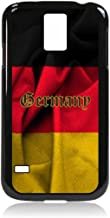 German Flag-Germany-TM Samsung Galaxy s5 i9600 Protective Black Plastic Phone Case Made in the USA