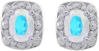 Damen Mystic Topas Ohrhänger 925 Silber rhodiniert 10,5 ct 3,3 cm Ohrschmuck