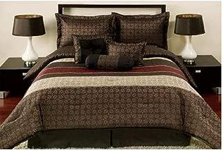 Mainstays Medici 7-Piece Bedding Comforter Set, King