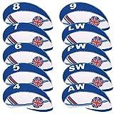 welltop Golf Club Cabeza Covers, Cubierta Protectora de Hierro de 10 PCS para Titleist, Callaway, Ping, Tay