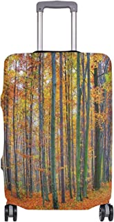 Suitcase Cover Beautiful Autumn Forest Landscape Fall Orange Leave Luggage Cover Travel Case Bag Protector for Kid Girls