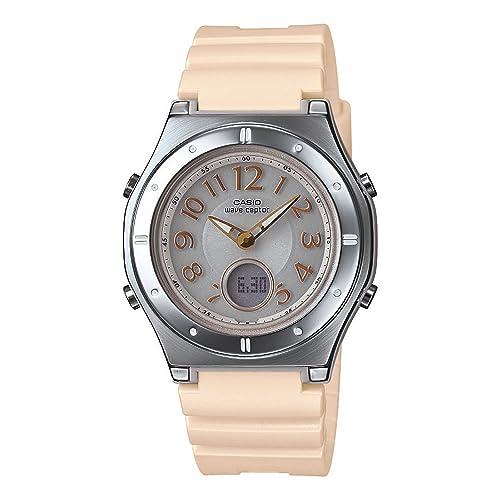 7da55c4ea9c487 [カシオ]CASIO 腕時計 WAVECEPTOR ウェーブセプター レディース電波ソーラーウォッチ ほんのりゴールド MULTIBAND6 マルチ