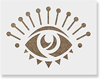 Promisla Evil Eye Stencil - Reusable Stencils for Painting - Create DIY Promisla Evil Eye Home Decor