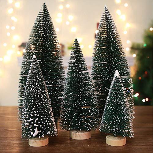 Weihnachtsdeko Schneetannen Künstlicher Mini Weihnachtsbaum, Klein Tannenbaum Dunkelgrün Naturgetreuer Christbaum für Tischdeko,Fensterdeko, Schaufenster, Deko Xmas Tree Künstliche Tanne 15-32cm