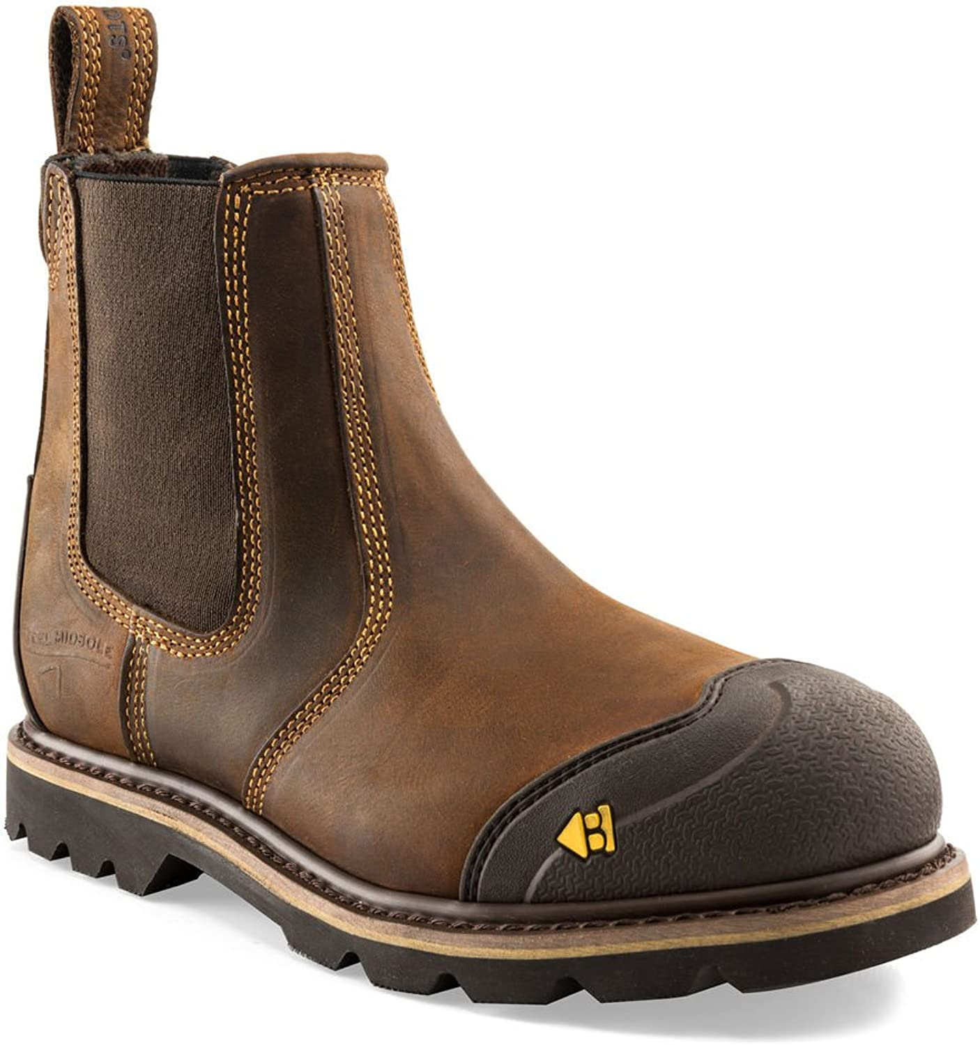 Buckler B1990SM Brown Safety Dealer Boots