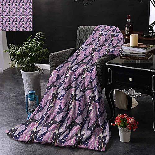ZSUO bont deken Doodle Style mythische wezens moeder en baby paarden met hoorns in pastel tinten gewogen voor volwassenen kinderen, beter diepere slaap