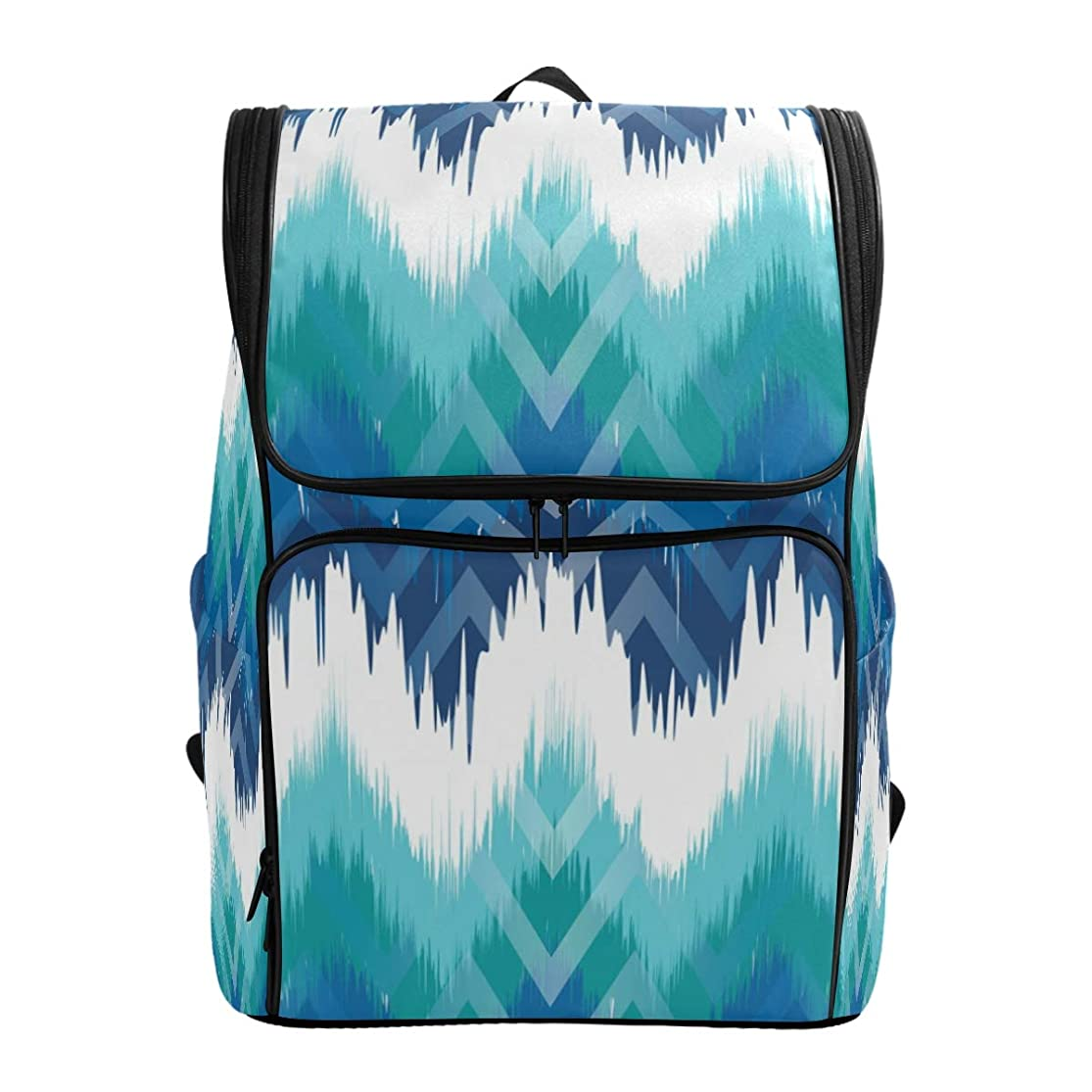 恐ろしい静かに値するマキク(MAKIKU) リュック 大容量 リュックサック 柄 模様 図案 ブルー 軽量 メンズ 登山 通学 通勤 旅行 プレゼント対応