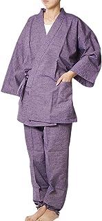 作務衣 女性 久留米絣女性作務衣 無地-日本製