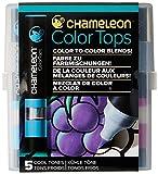 Chameleon Art Products - 5 Color Tops; Puntas de mezcla Chameleon; Tonos Frios