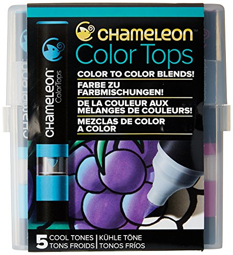 Chameleon Art Products - 5 Color Tops; Puntas de mezcla Chameleon; Tonos Frios