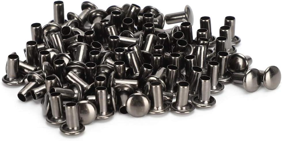 Hollow Rivets Grommets Eyelets Under blast sales Bronze Black Fastener Piece Latest item Fitti