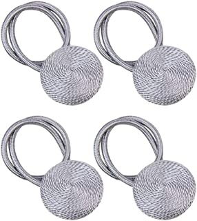 Nordic Style Curtain Tieback 4 Piece Decorative Rope Shower Curtain Tie Backs Drapes Holder With Strong Magnet For Bedroom...