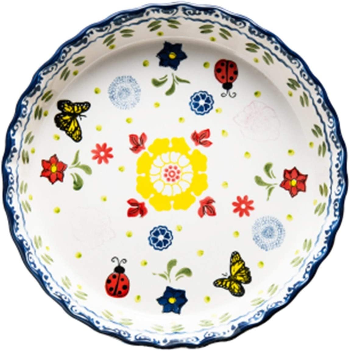 Dinnerware Set 10-Inch Directly managed store Deep Plate Ceramic Dish Round low-pricing Pizza