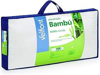 Velfont - Almohada Bambú 70, Blanco