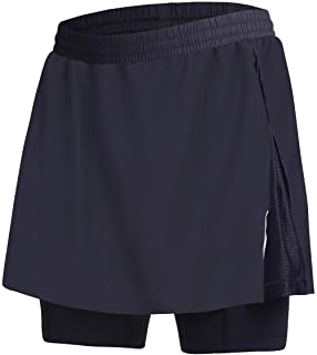 BEROY Women Quick Dry Breathable Cycling Skirt Shorts,Bike Skorts Pantskirt 3D Padded