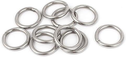 REFURBISHHOUSE 5 Pcs anneaux soudes en forme de O en acier inoxydable de sangle grouee de la dimension 20mm x 3mm