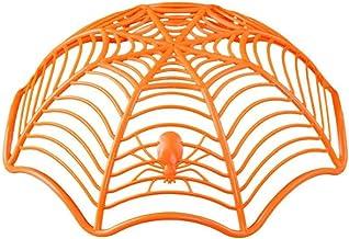 Spider Web Fruit Plaat Halloween Decoratie Creatieve Candy Biscuit Fruits Candy Mand Bowl Voor Halloween Party Decor (oran...