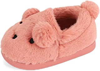 ESTAMICO Boys Girls Warm Slippers Cute Animal Toddler Kids Winter Indoor Outdoor Household Shoes Bunny Slippers