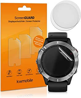 kwmobile 3X Protector Transparente Compatible con Garmin Fenix 6 (47mm) -Lámina Compatible con Display de Actividad Fitness Tracker